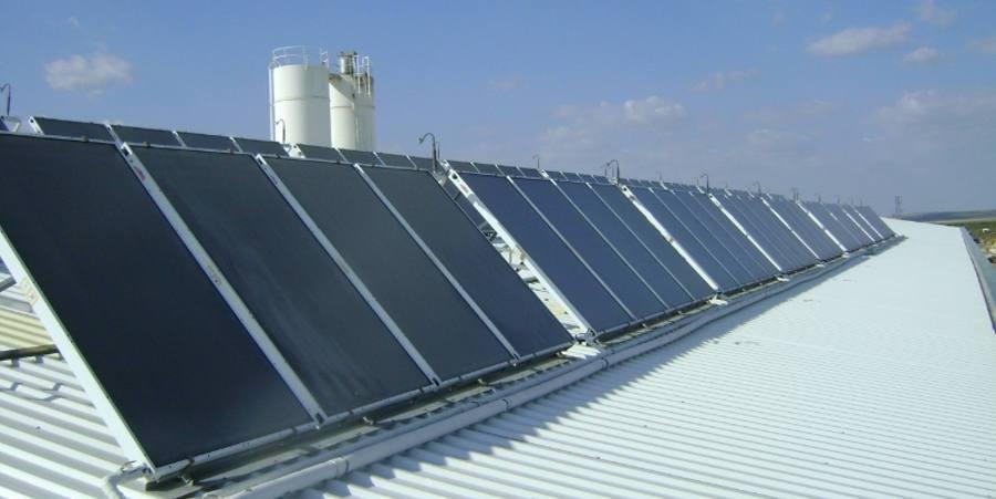 panel solar termico industria